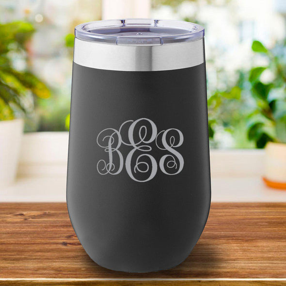 16 oz. Personalized Travel Mug - Black Tumbler - IMF - JDS