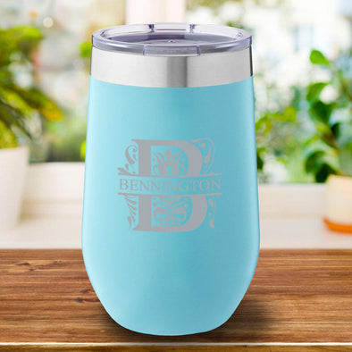 16 oz. Personalized Travel Mug - Mint Tumbler - Filigree - JDS