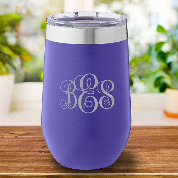 16 oz. Personalized Travel Mug - Purple Tumbler - IMF - JDS