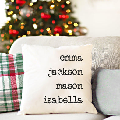 Family Names Personalized Throw Pillow - Classic -  - JDS
