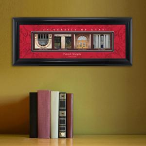 Personalized University Architectural Art - PAC 12 College Art - Utah - JDS