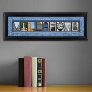 Personalized University Architectural Art - Big East College Art - Villanova - Personalized Wall Art - AGiftPersonalized