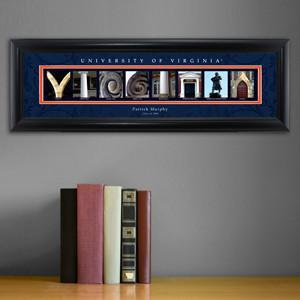 Personalized University Architectural Art -  Atlantic Coast Conference College Art - Virginia - JDS