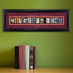 Personalized University Architectural Art -  Atlantic Coast Conference College Art - Virginiatech - JDS