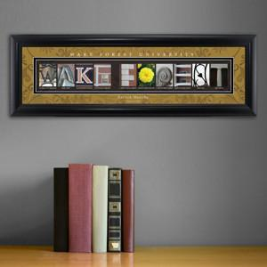 Personalized University Architectural Art -  Atlantic Coast Conference College Art - WakeForest - JDS