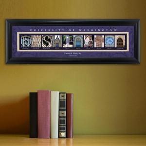Personalized University Architectural Art - PAC 12 College Art - Washington - JDS