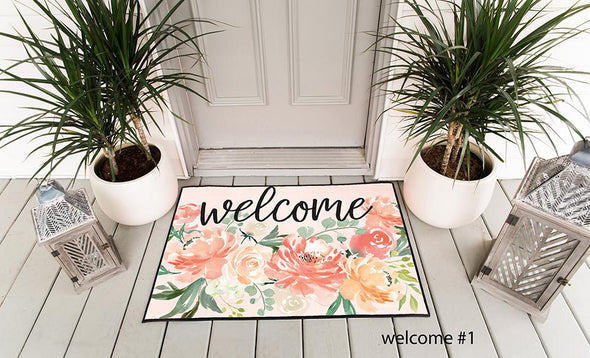 Personalized Floral Doormats -  - Qualtry