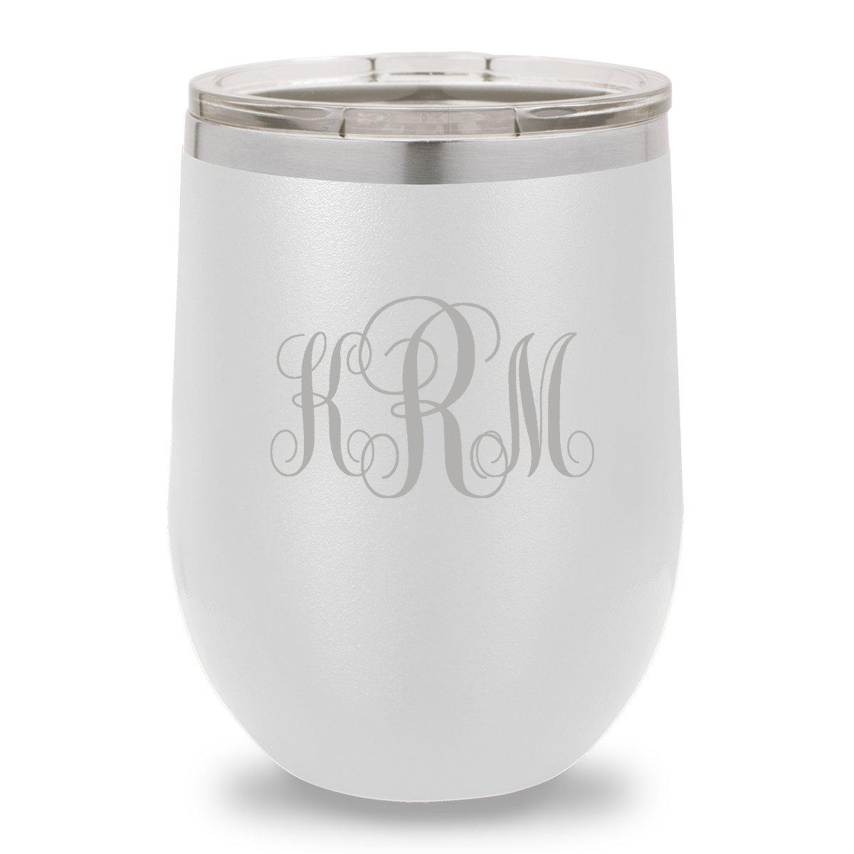 12 oz. Insulated Wine Tumbler - White