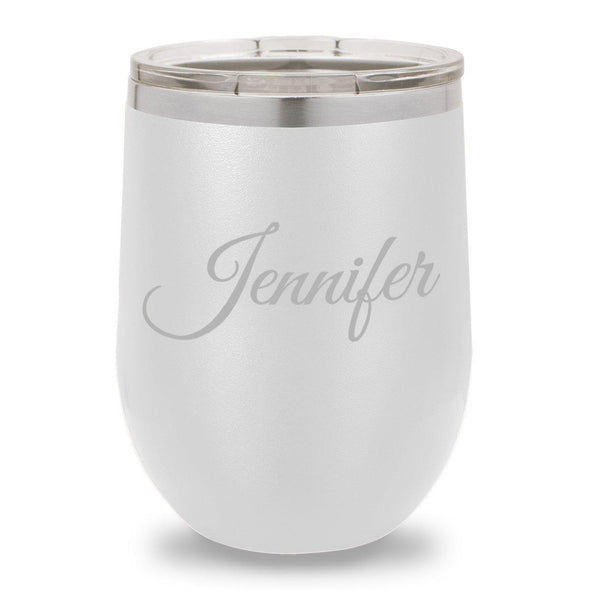 12 oz. Insulated Wine Tumbler - White - Script - JDS
