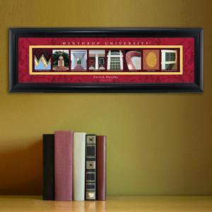 Personalized University Architectural Art - College Art - Winthrop