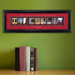 Personalized University Architectural Art - Big 10 Schools College Art - Wisconsin - Personalized Wall Art - AGiftPersonalized