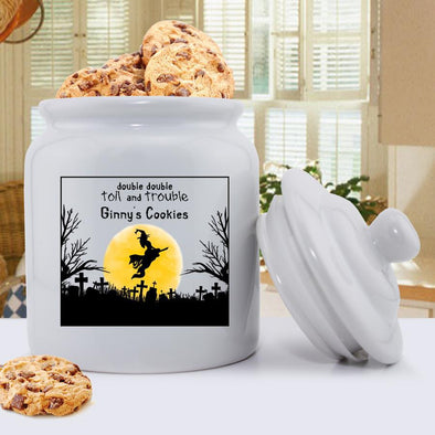Personalized Witch Halloween Cookie Jar -  - JDS