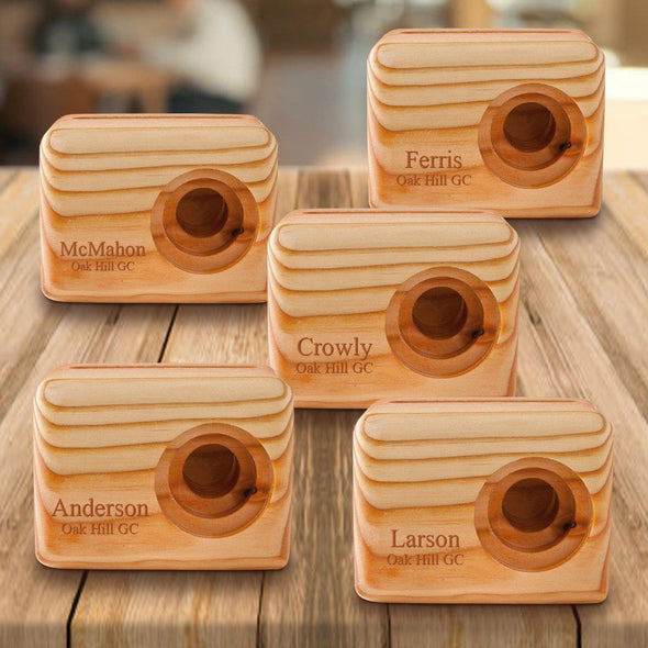 Personalized Set of 5 Wooden Speakers - Cell Phone Speaker - 2lines - JDS