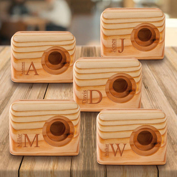 Personalized Set of 5 Wooden Speakers - Cell Phone Speaker - Modern - JDS