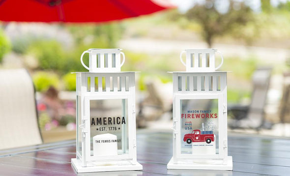 Personalized Patriotic Lanterns -  - Qualtry