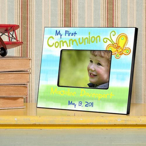 Personalized First Communion Picture Frame - Sunshine&Butterflies - Frames - AGiftPersonalized