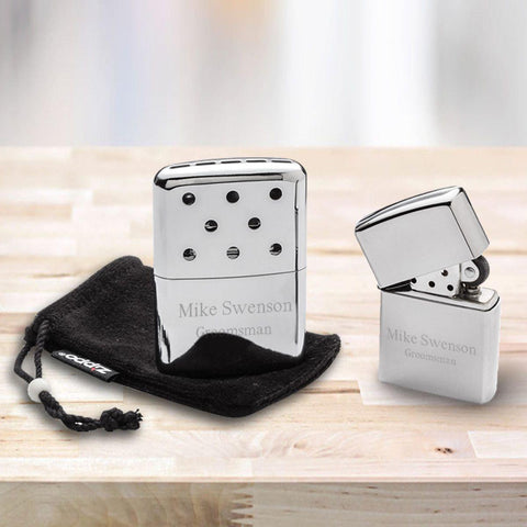 Personalized Zippo Hand Warmer With Chrome Zippo Lighter -  - Zippo Lighters & Gifts - AGiftPersonalized