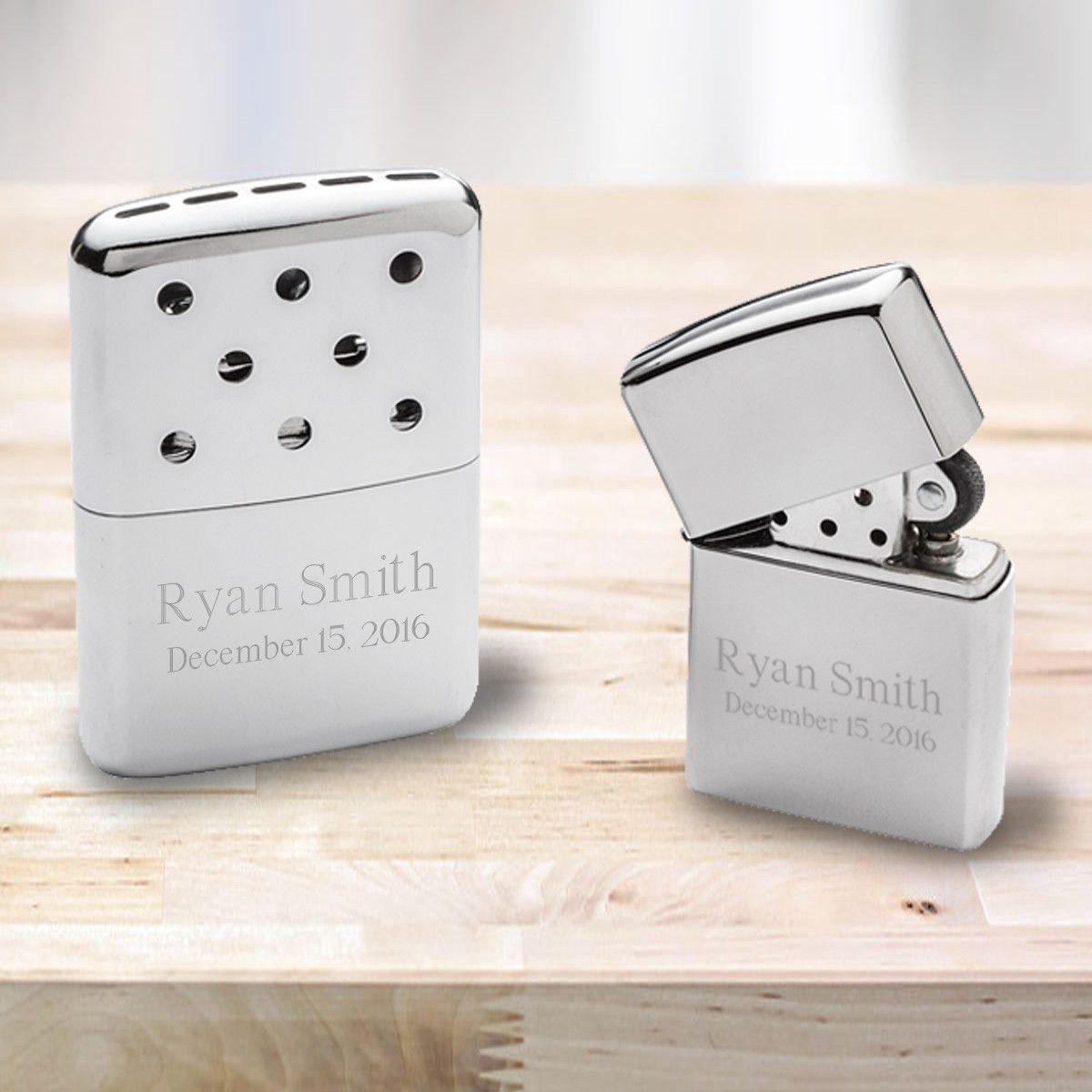 Personalized Zippo Hand Warmer With Chrome Zippo Lighter
