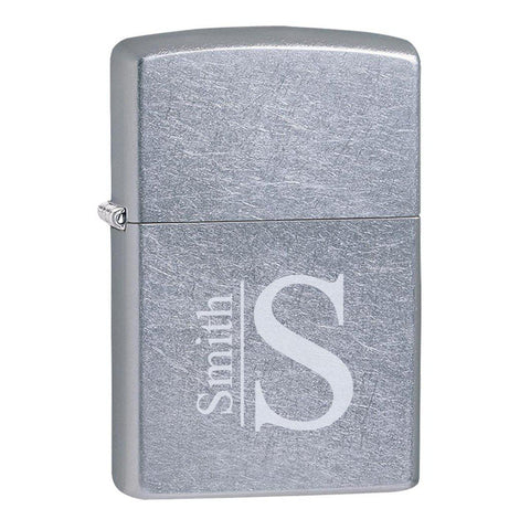Personalized Street Chrome Zippo Lighter at AGiftPersonalized