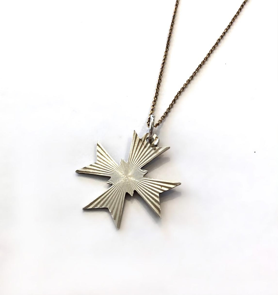 Vintage Maltese Cross Pendant