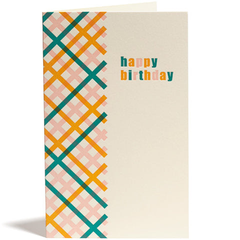 Birthday Bright Gingham Card