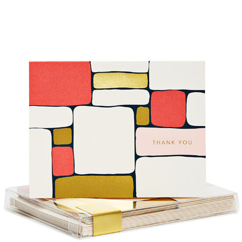Snow & Graham Blocks Gold Foil Noteset