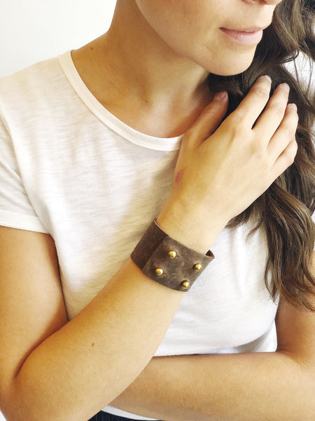 Four Button Leather Cuff