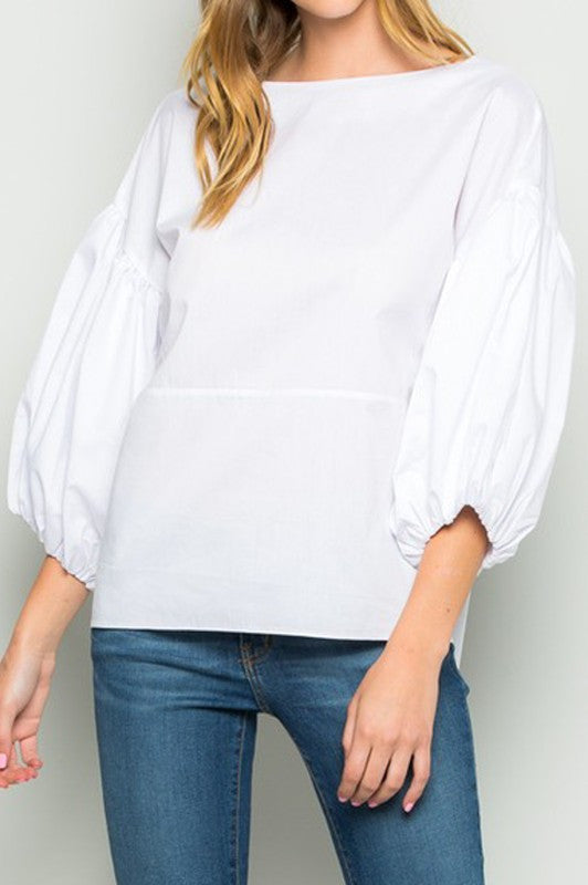 Puffy Sleeved Top