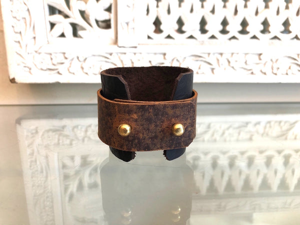 Two-tone Leather Cuff