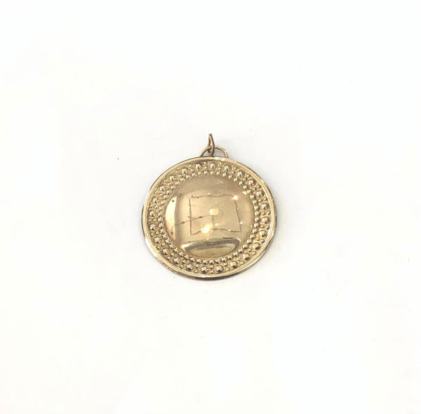 Vintage Domed Shield Pendant