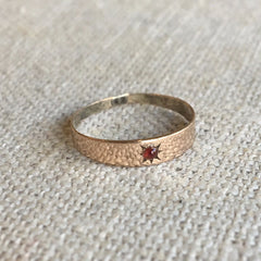Vintage Baby Ring with Garnet