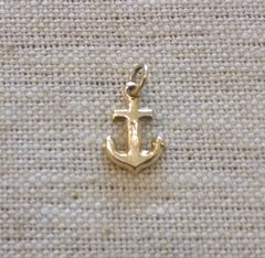 9k Vintage Puffy Anchor