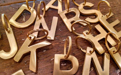 Brass Typeface Key Chain