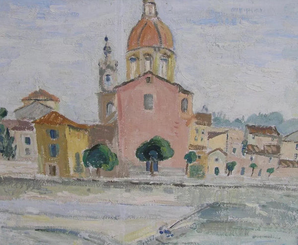 """Church on River"" circa 1951"