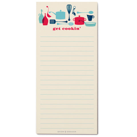 Snow & Graham Get Cookin' List Pad