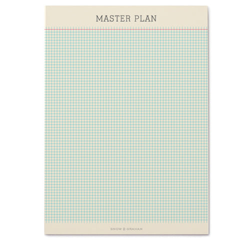 Snow & Graham Master Plan Notepad