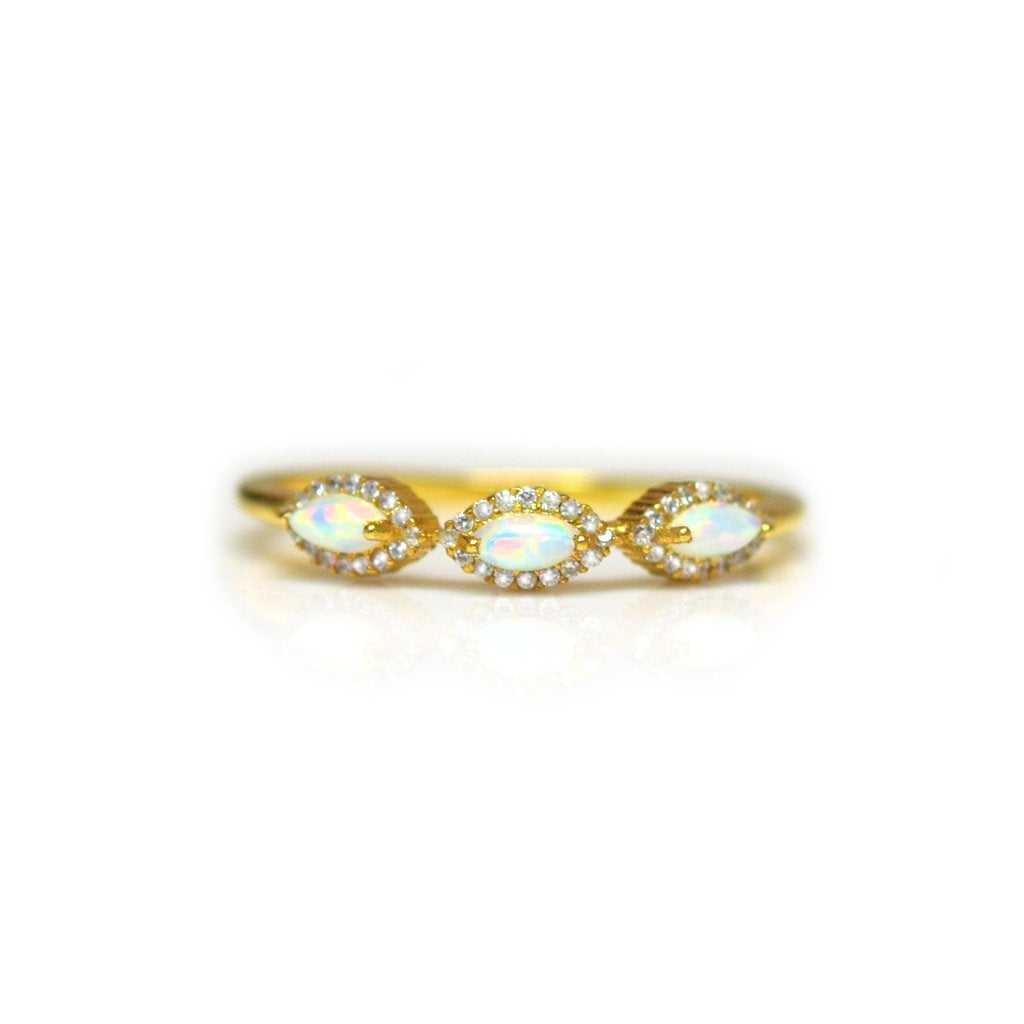 Tiara Ring • Opal & Diamond