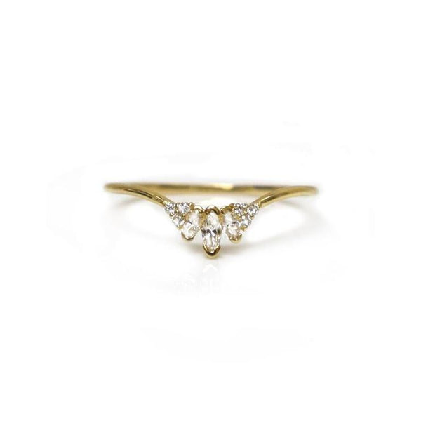 14k Princess Elle Ring • Diamond