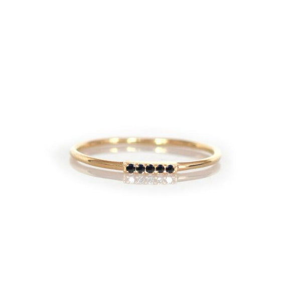 14k Alinea Ring • Black Diamond