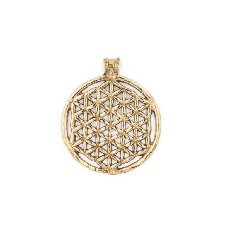 Brass Arabian Lattice Pendant Necklace