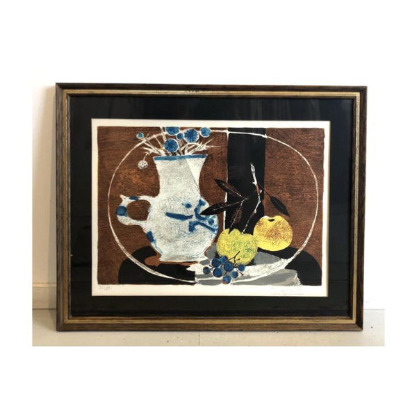 Vintage Still Life w/Fruit Lithograph