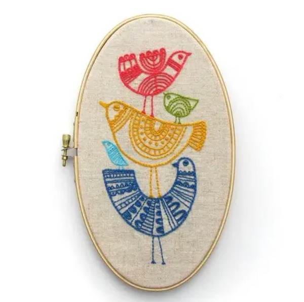 Birdie Embroidery Kit