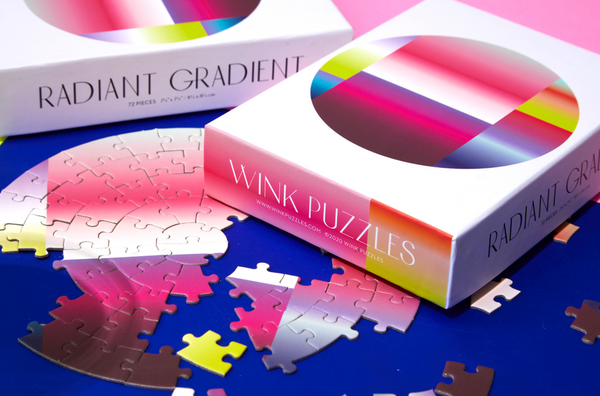 Radiant Gradient Mini Puzzle • 72 Pieces