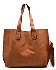 Vegan Leather Tote & Pouch