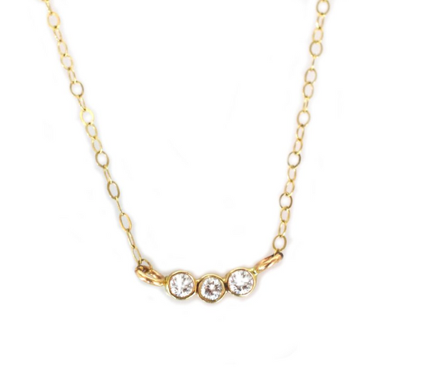 14k Trio Necklace • Diamond