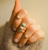 Solo Claw Ring • Opal