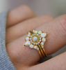Parisian Blossom Ring • Opal & Diamond