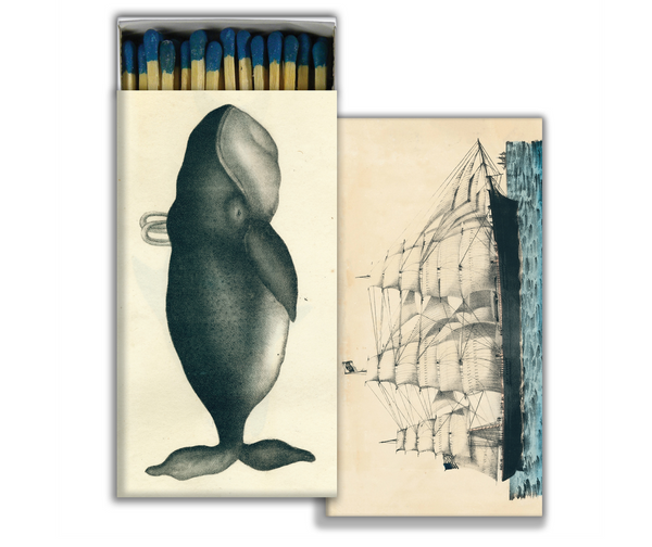 Whale + Clipper Ship Matchbox