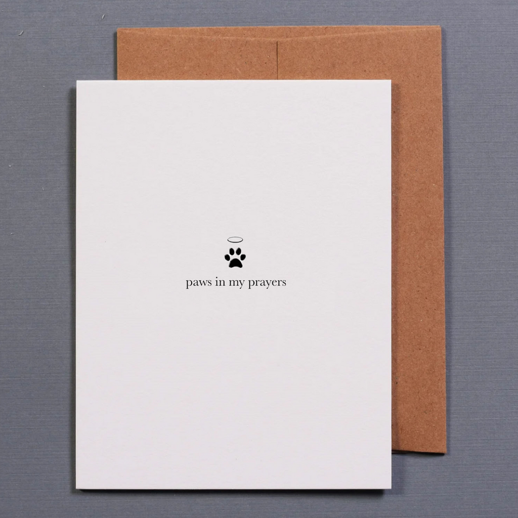 Paws in My Prayers • Card