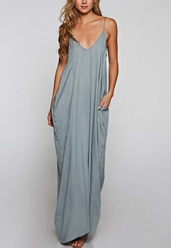 Solid Cocoon Maxi Dress